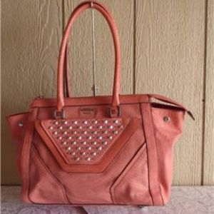 GUESS Tough Luv  Faux Leather Satchel- Like New